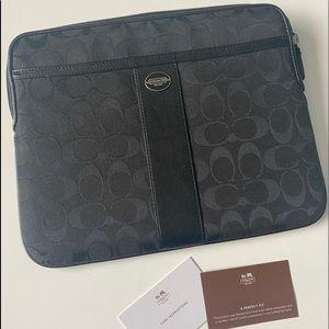 Authentic Black Coach Tablet Case